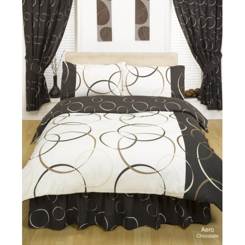 Aero Chocolate Half Set Bedding King Duvet Cover