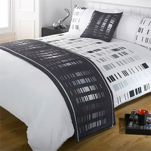 Staten Black Bed In Bag Bedding King Duvet Cover Set