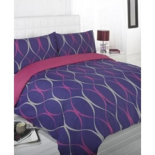 Libby Purple Half Set Bedding Double Duvet Cover