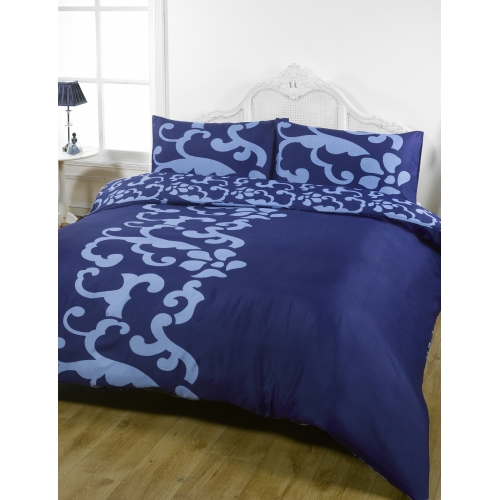 Chelsea Navy Half Set Bedding Double Duvet Cover