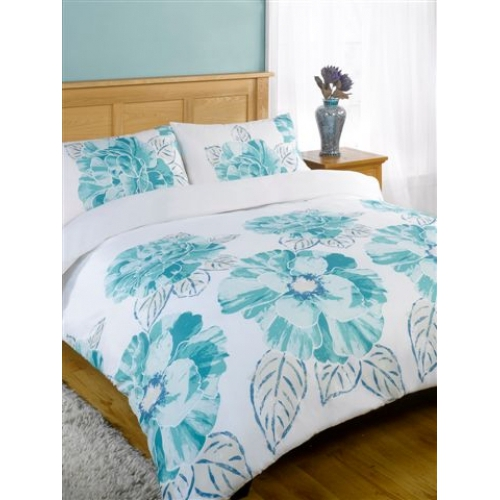 Nikita Teal Half Set Bedding Super King Duvet Cover