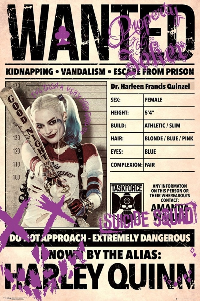 Suicide Squad Harley Quinn 'Wanted' Maxi Poster Wall Decoration