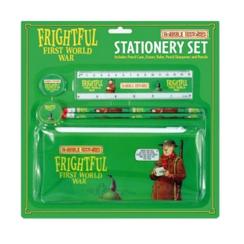 Horrible Histories 'Frightful First World War' Stationery Set