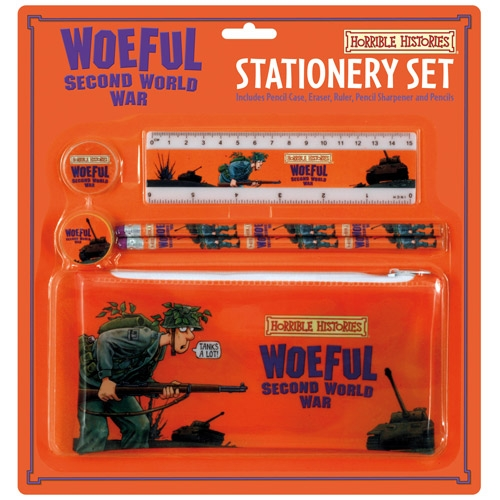 Horrible Histories 'Woeful Second World War' Stationery Set