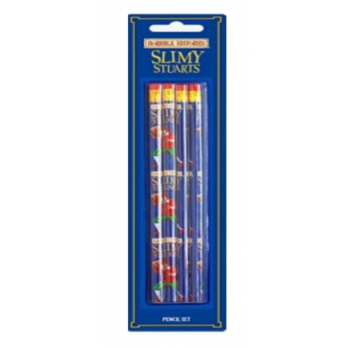 Horrible Histories 'Slimy Stuarts' 4 Piece Pencil Stationery