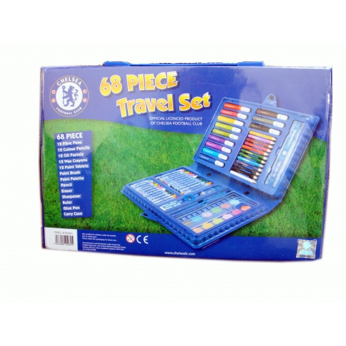 Chelsea Fc 68 Piece Football Travel Stationery Bag Official
