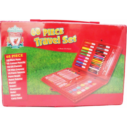 Liverpool Fc 68 Piece Football Travel Stationery Bag Official