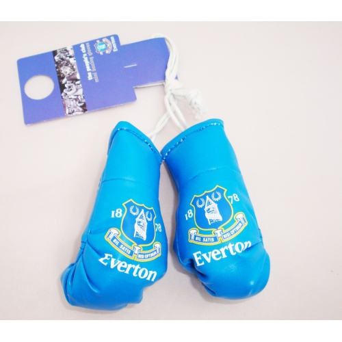 Everton Fc Football Car Mirror Boxing Gloves Official Decoration