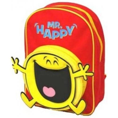 The Mr Men Show 'Mr Happy' School Bag Rucksack Backpack