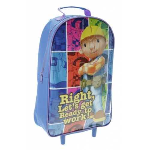 Bob The Builder Ready To Work School Travel Trolley Roller Wheeled Bag