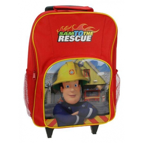 Fireman Sam 'To The Rescue' School Travel Trolley Roller Wheeled Bag