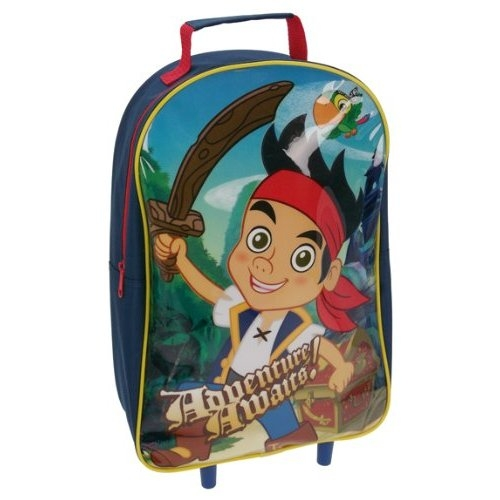 Jake and The Neverland Pirates 'Adventure Awaits' School Travel Trolley Roller Wheeled Bag