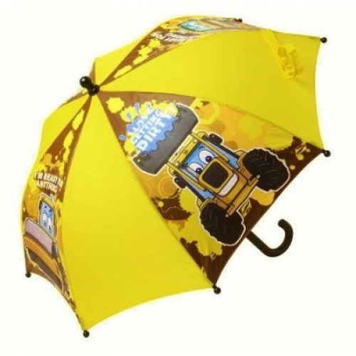My First Jcb 'I Love Getting Dirty' School Rain Brolly Umbrella
