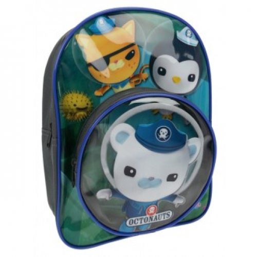 Octonauts 'Round Clear Front Pocket' School Bag Rucksack Backpack