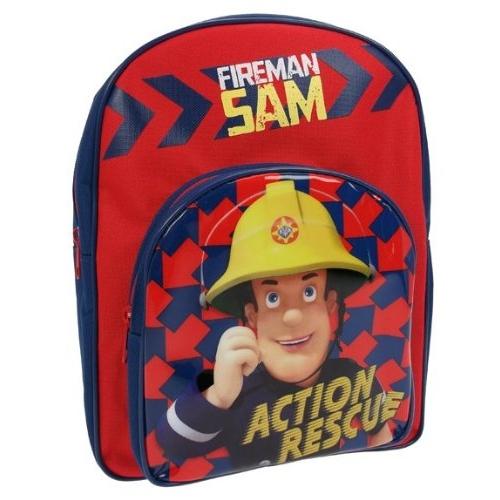 Fireman Sam 'Action Rescue' Pvc Front School Bag Rucksack Backpack
