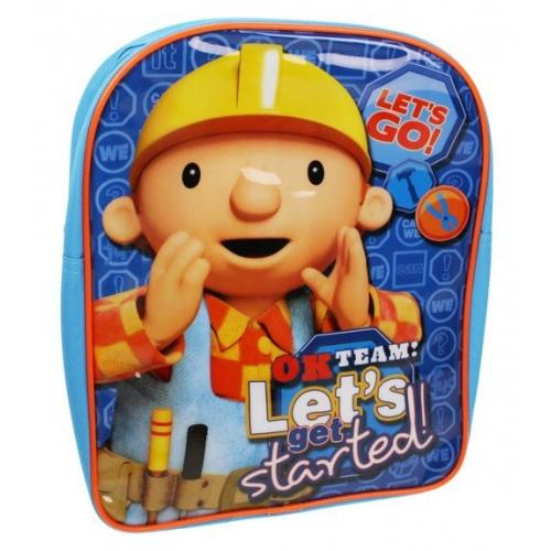 Bob The Builder 'Let' S Get Started' Pvc Front School Bag Rucksack Backpack