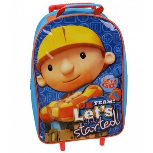 Bob The Builder 'Let' S Get Started' School Travel Trolley Roller Wheeled Bag