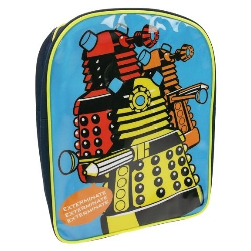 Doctor Who 'Exterminate' Pvc Front School Bag Rucksack Backpack
