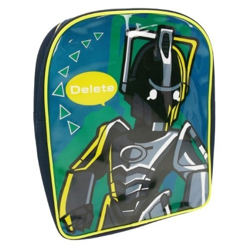 Doctor Who 'Delete' Pvc Front School Bag Rucksack Backpack