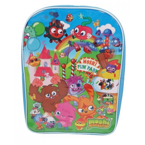 Moshi Monsters 'Fun Park' Pvc Front School Bag Rucksack Backpack