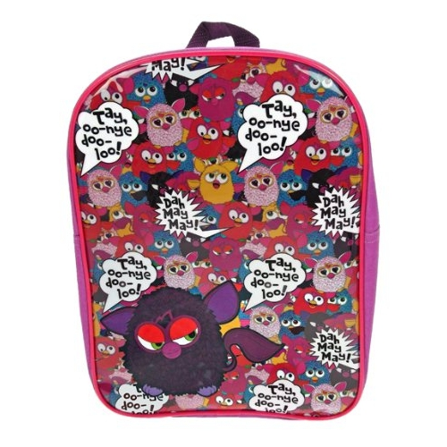 Furby Pvc Front School Bag Rucksack Backpack