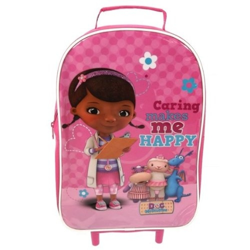 Disney Doc Mcstuffins School Travel Trolley Roller Wheeled Bag