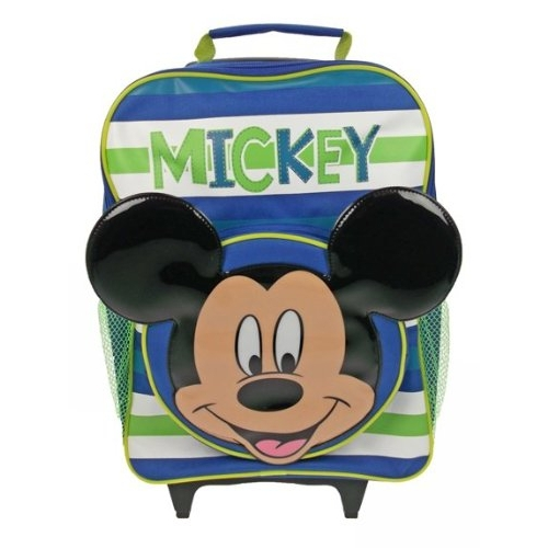 Disney Mickey Mouse Premium School Travel Trolley Roller Wheeled Bag