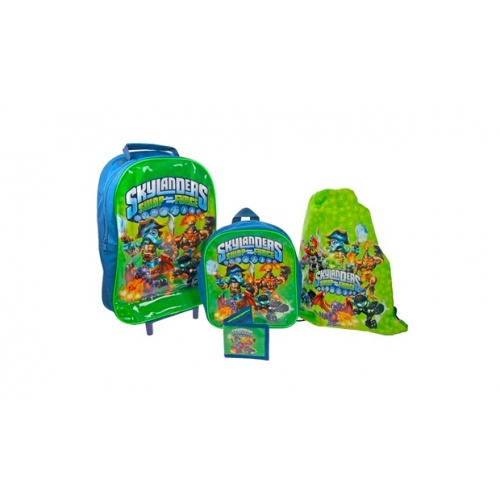 Skylanders 'Swap Force' 4pc Set Include Wallet Backpack Trainer Bag Wheeled