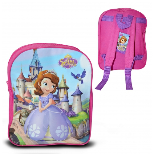 Disney Sofia The First 'Flat Front' School Bag Rucksack Backpack