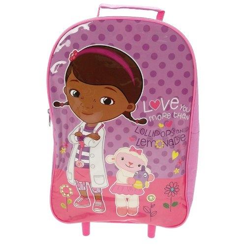 Disney Doc Mcstuffins Boo Boos School Travel Trolley Roller Wheeled Bag