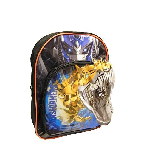 Transformers '3d Front Pocket' School Bag Rucksack Backpack