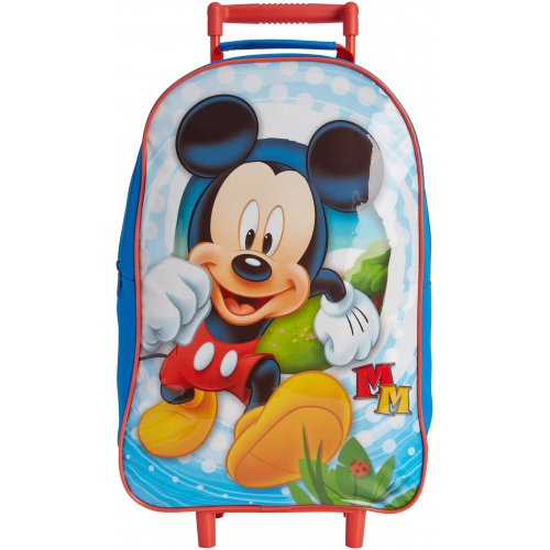 Disney Mickey Mouse Happy Days School Travel Trolley Roller Wheeled Bag