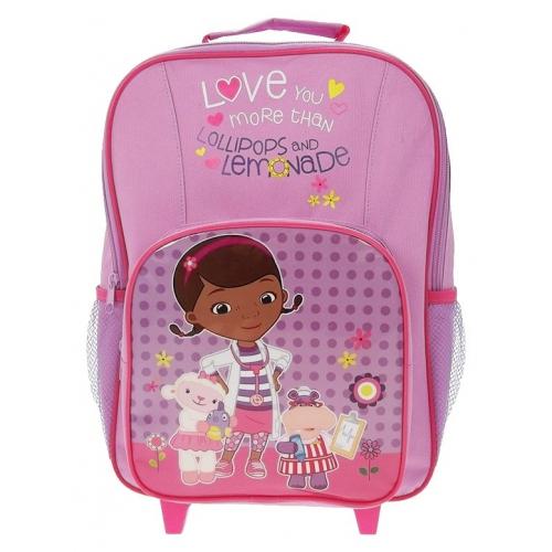 Disney Doc Mcstuffins Premium 'Boo Boo' School Travel Trolley Roller Wheeled Bag