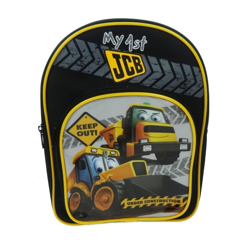 Jcb Flashing Light School Bag Rucksack Backpack