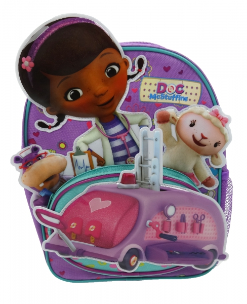 Disney Doc Mcstuffins Shaped Pocket School Bag Rucksack Backpack
