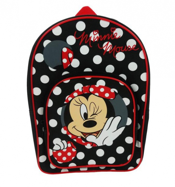 Disney Minnie Mouse Polka Dot Arch Pocket School Bag Rucksack Backpack