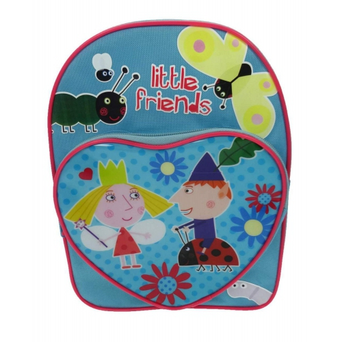 Ben and Holly 'Heart Shaped Pocket' School Bag Rucksack Backpack