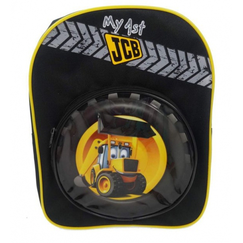 'My First Jcb' Round Pocket School Bag Rucksack Backpack