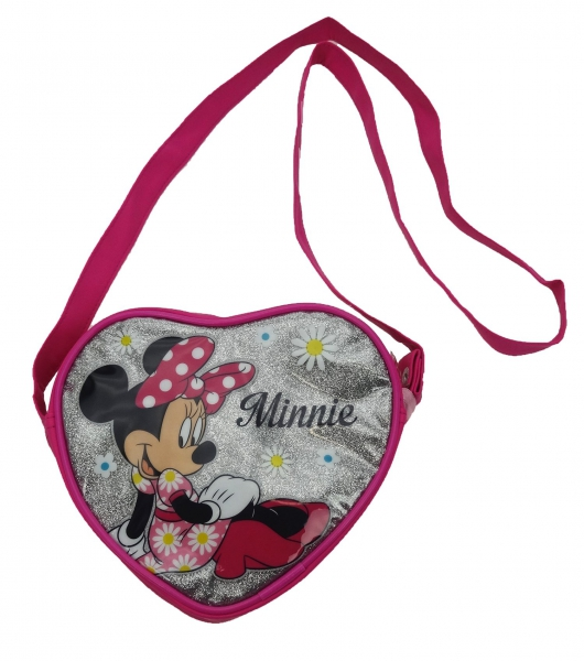 Disney Minnie Mouse 'Glitter' Heart Shaped School Hand Bag