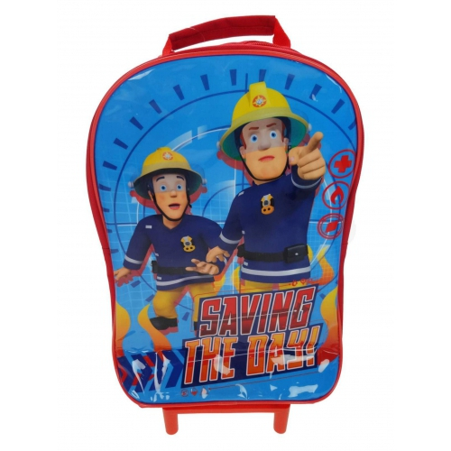 Fireman Sam 'Saving The Day' School Travel Trolley Roller Wheeled Bag
