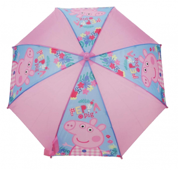 Peppa Pig 'Holiday' School Rain Brolly Umbrella
