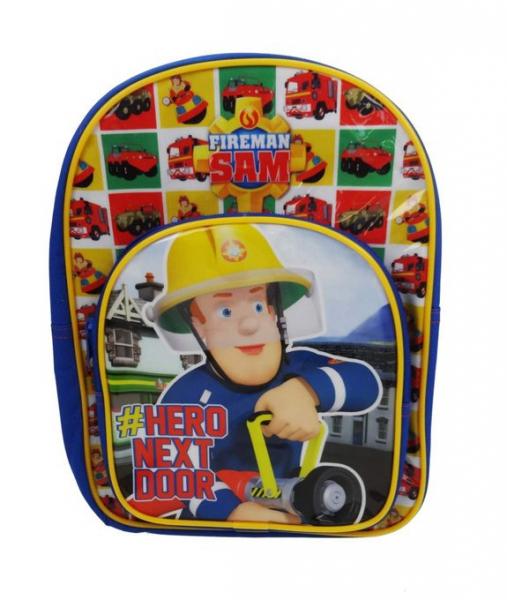 Fireman Sam 'Hero Next Door' Arch Pocket School Bag Rucksack Backpack