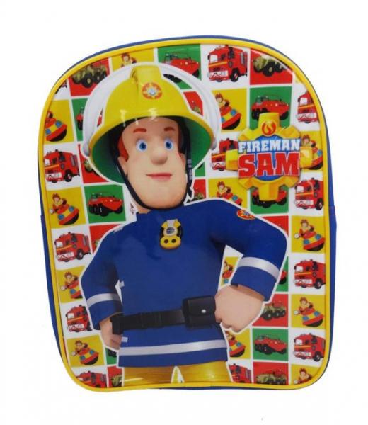 Fireman Sam 'Hero Next Door' Pvc Front School Bag Rucksack Backpack