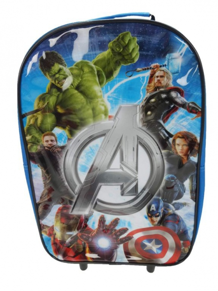 Avengers 'Assemble' Pvc Front School Travel Trolley Roller Wheeled Bag