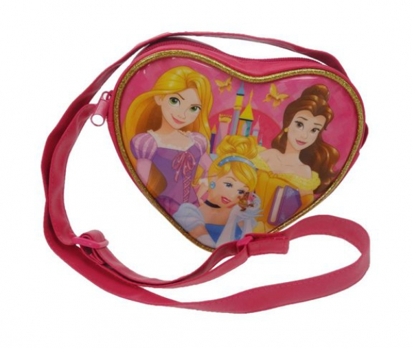 Disney Princess 'Fairytale Friendship' Heart Cross Body School Shoulder Bag