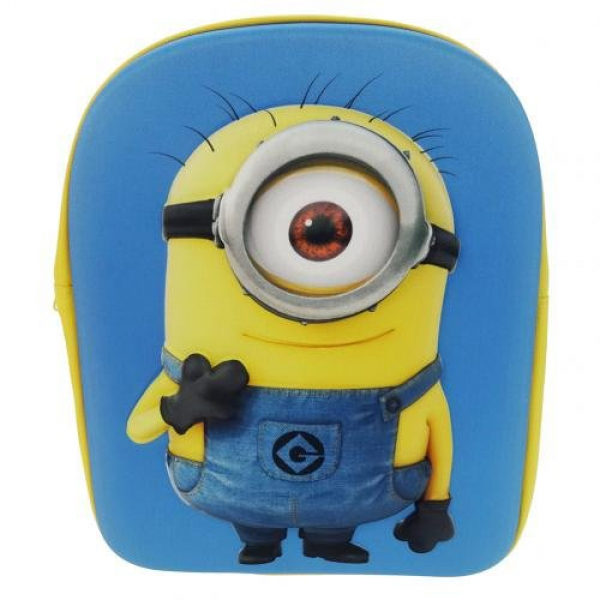 Despicable Me Minion 3d School Bag Rucksack Backpack
