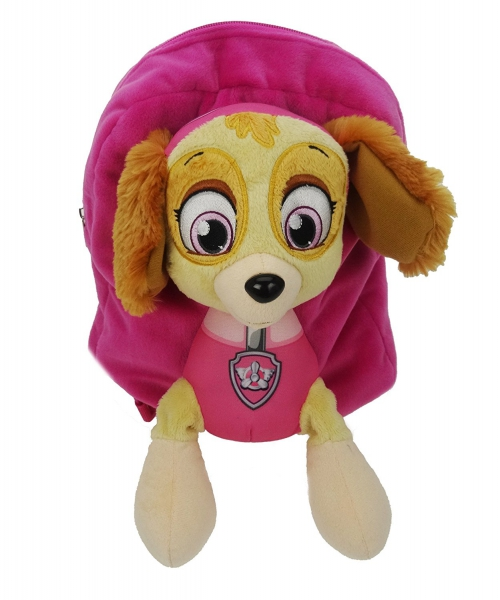Paw Patrol Girls 'Skye' Plush School Bag Rucksack Backpack