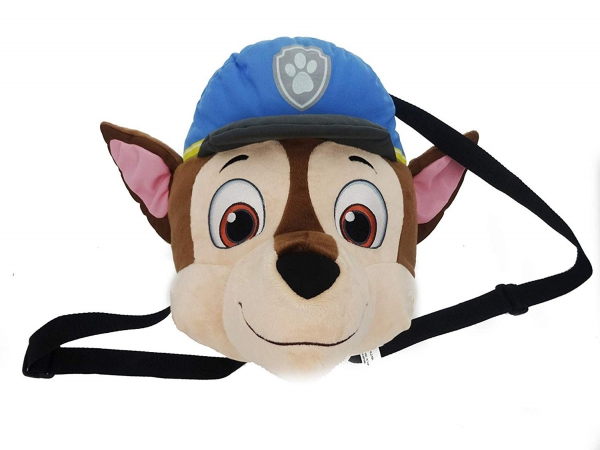 Paw Patrol Boys 'Chase' Head Plush School Bag Rucksack Backpack