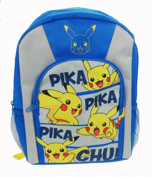Pokemon 'Pikachu' Blue Sports School Bag Rucksack Backpack