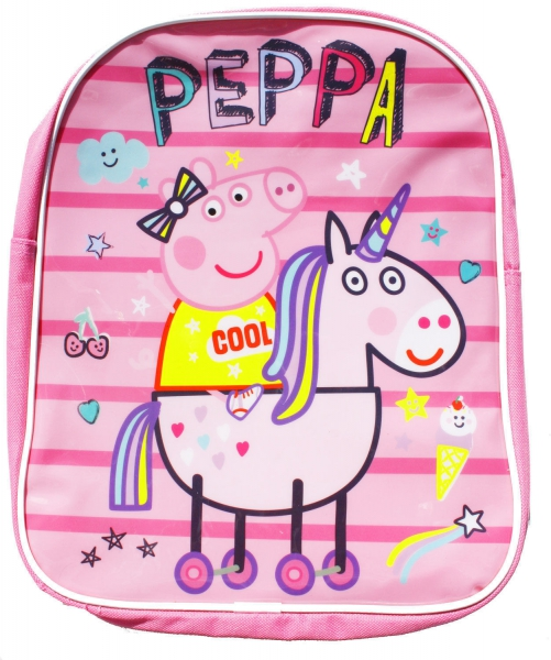 Peppa Pig Unicorn Girls School Bag Rucksack Backpack